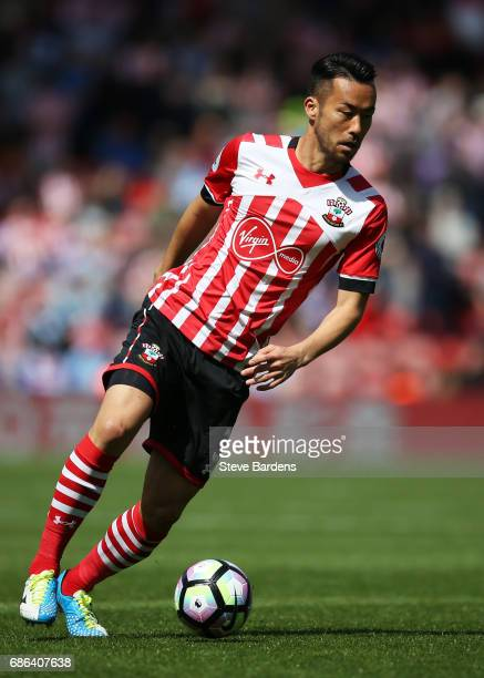 Maya Yoshida of Southampton in action during the Premier League match between Southampton and Stoke City at St Mary's Stadium on May 21 2017 in...