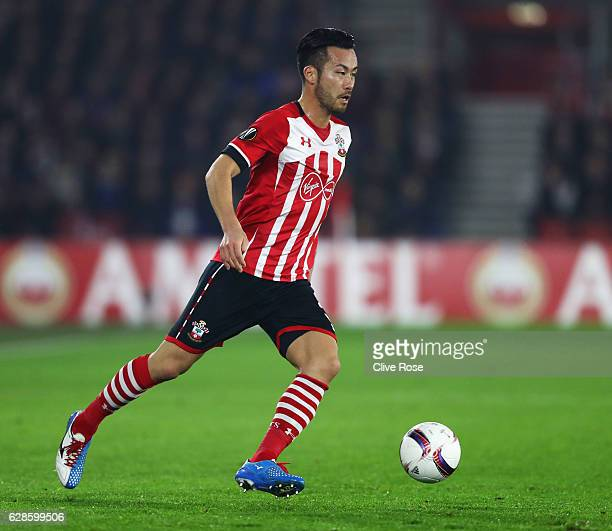 Maya Yoshida of Southampton in action during the UEFA Europa League Group K match between Southampton FC and Hapoel Be'erSheva FC at St Mary's...