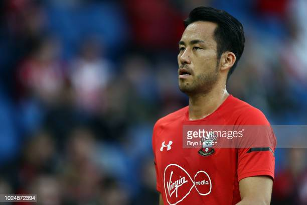 Maya Yoshida of Southanpton looks on prior to the Carabao Cup Second Round match between Brighton Hove Albion and Southampton at American Express...