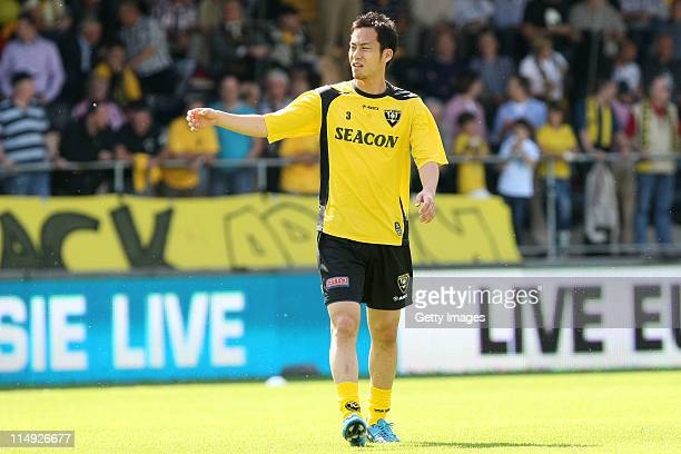 Maya Yoshida of Venlo prior the Dutch Eredivise Play Off Final Second Leg match between VVV Venlo and FC Zwolle at Seacon Stadion de Koel on May 29...