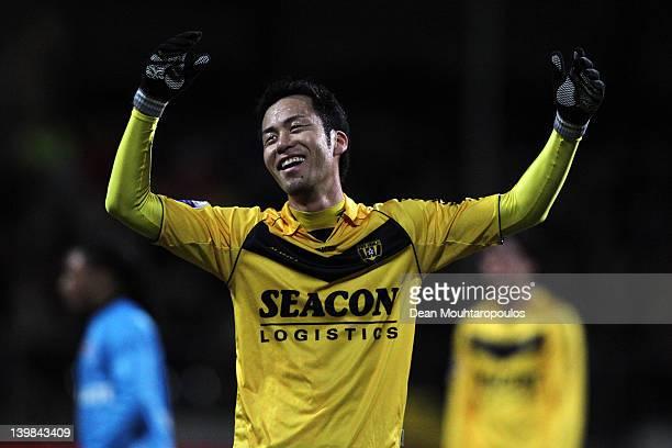 Maya Yoshida of VVV Venlo reacts to a referee decision during the Eredivisie match between VVV Venlo and SC Heracles Almelo at Seacon Stadium De Koel...