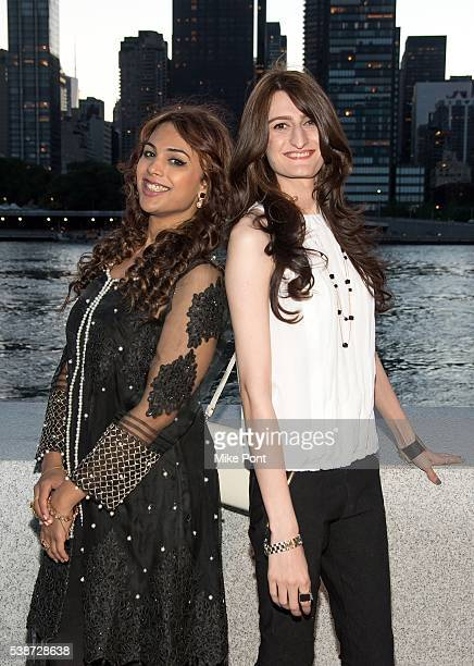 Maya Zaman and Inaya Zarakhel attend the 'Blackout' World Premeire at Four Freedoms Park on June 7 2016 in New York City