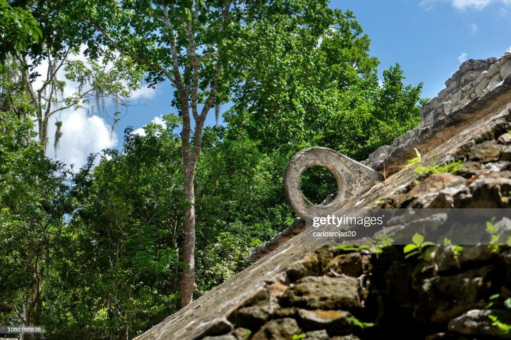 Mayan ball game ruins : Stock Photo