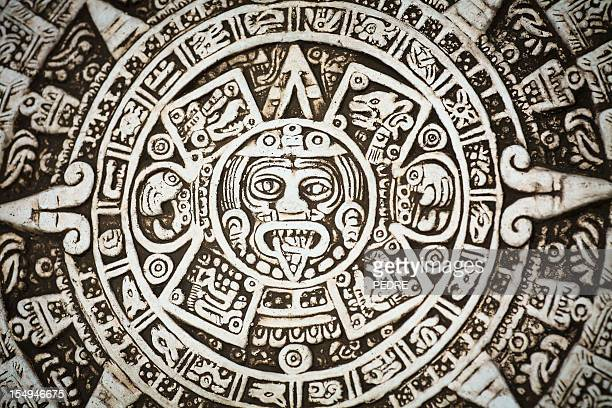 mayan calendar - mexican god stock pictures, royalty-free photos & images