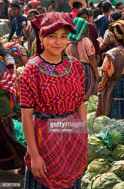 Mayan girl at market in Almolonga