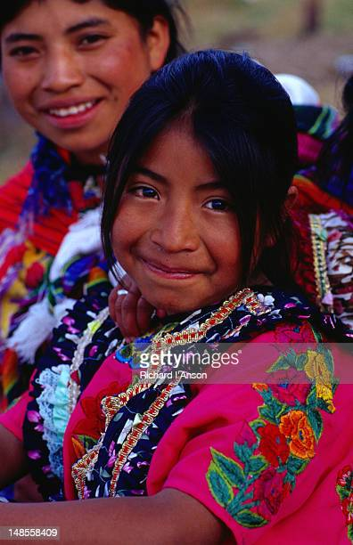 A Mayan girl in traditional dress