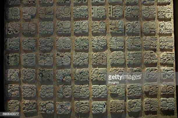 Mayan Glyphs Alberto Ruz Lhuillier Site Museum Palenque Chiapas Mexico
