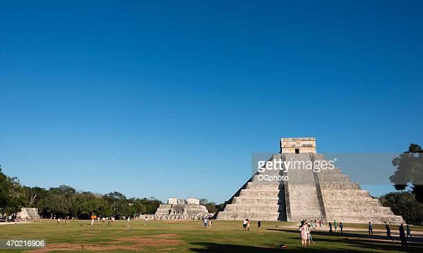xxxl:  kukulkan maya pyramide in chichen itza, mexiko - ogphoto stock-fotos und bilder