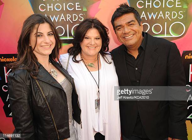 Mayan Lopez, Ann Serrano and actor George Lopez arrive at Nickelodeon's 23rd Annual Kids' Choice Awards held at UCLA's Pauley Pavilion on March 27,...