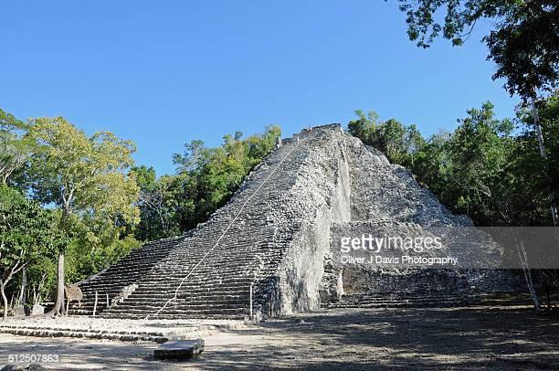 Mayan Pyramid at Coba, Surrounded by Jungle