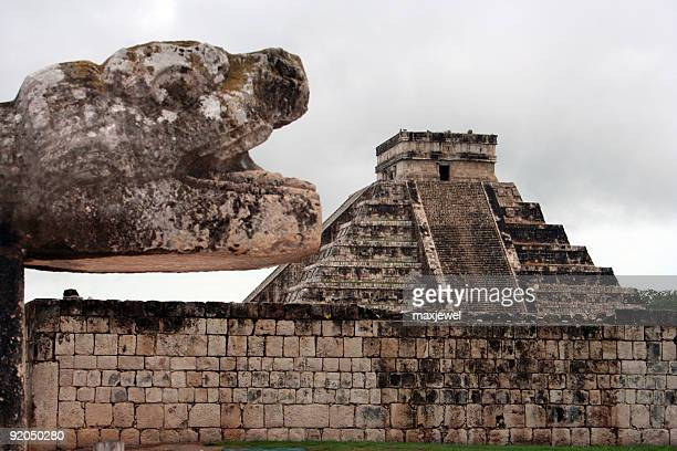 Mayan Pyramid/Temple Guardian Serpent - Chichen Itza, Mexico