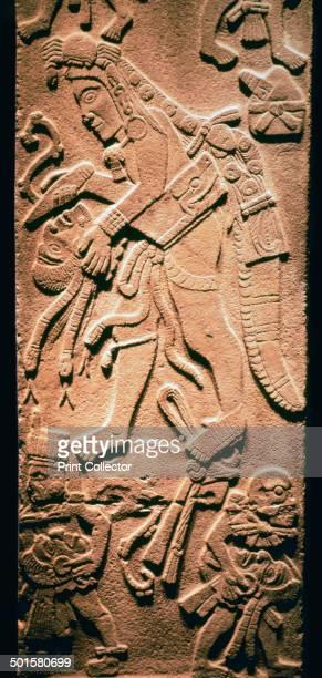 A Mayan stela showing human sacrifice from the Cozumalhuapa culture in Guatamala