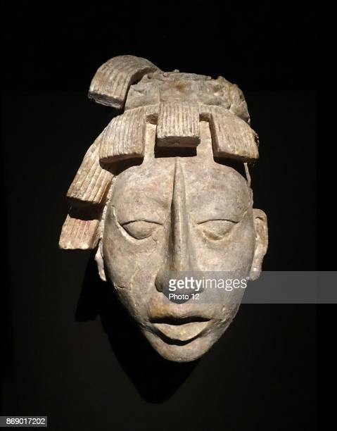 Mayan stucco head of a youth From a funerary chamber at the Temple of Inscriptions at Palenque Chiapas Mexico 600900 AD