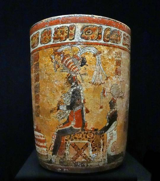 Mayan Terracotta Vase Depicting A King Or Ruler Pictures Getty Images