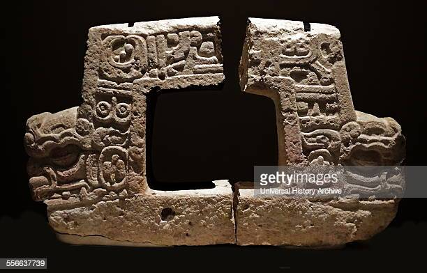 Mayan twoheaded altar representing the bird Muwaan associated with the night sky and underworld From MoralReforma Tabasco Mexico 600900 AD