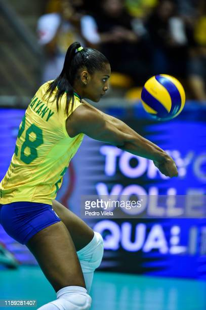 Mayany of Brazil in action during the women's qualifying volleyball match between the Brazil and Dominican Republic on Olympic Qualification...