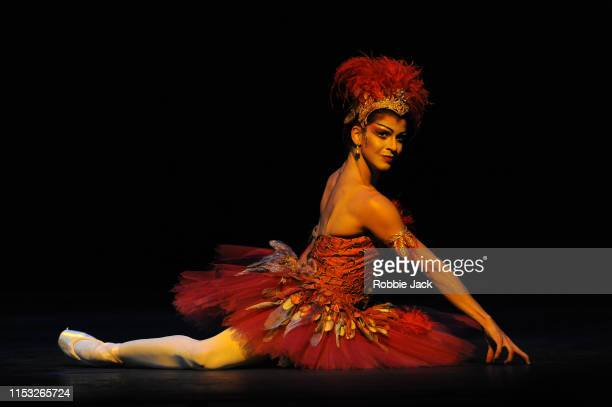 Mayara Magri as The Firebird in The Royal Ballet's production of Michael Fokine's The Firebird at The Royal Opera House on May 31 2019 in London...