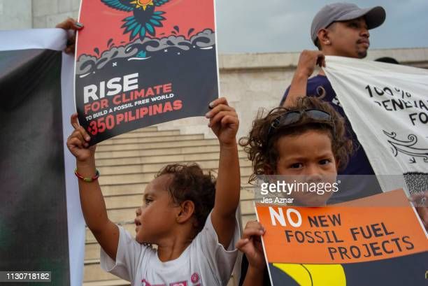 Mayari and Ilaw Holland join their parents and Environmentalists and other concerned citizens as they gather and hold a picket to voice out concern...