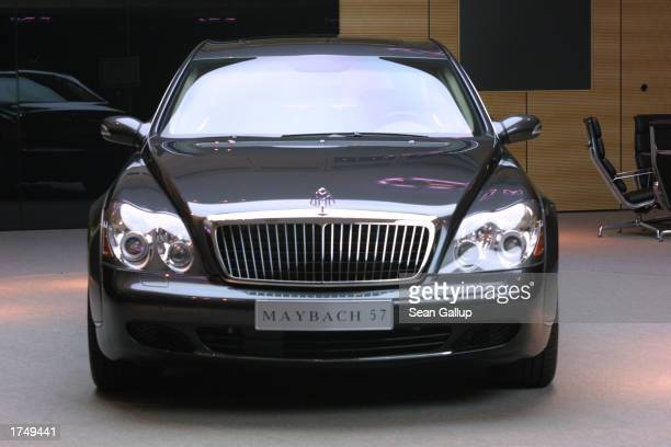 Maybach 57 limousine which retails for EUR 359 approximately $390 sits at a Maybach dealership January 28 2003 in Berlin Germany DaimlerChrysler...