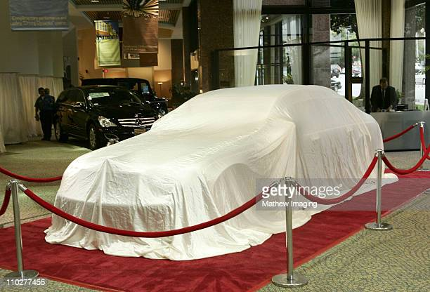 Maybach 57 S waiting to be unveiled at MercedesBenz of Beverly Hills