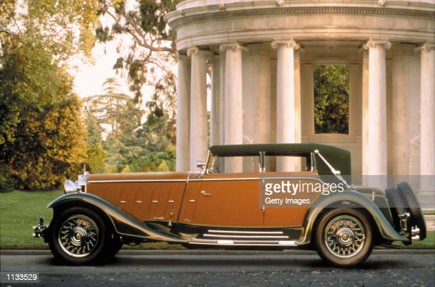 Maybach is previewed in this undated photograph on July 18 2002 in Pebble Beach California Maybach and Cadillac have been announced as the honored...