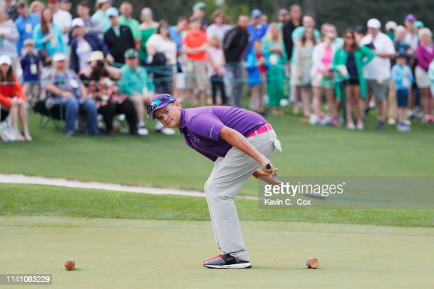J Maybank boys 1213 competes in the Drive Chip and Putt Championship at Augusta National Golf Club on April 07 2019 in Augusta Georgia