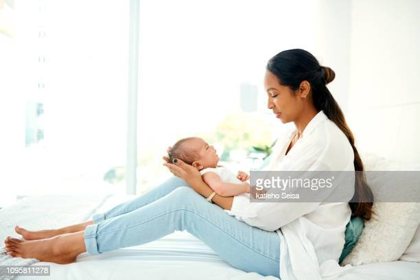 maybe it's time for you to take a nap - moms crying in bed stock photos and pictures
