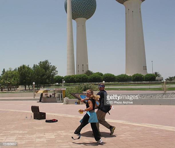 'Maybe Steven Seagal Will See Me And Want Me To Be In One Of His Movies' While racing through Kuwait Sarah and Peter perform the Roadblock challenge...