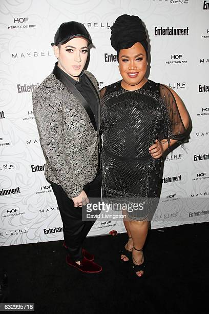 Maybelline social influencers Manny MUA and Patrick Starr arrive at the Entertainment Weekly celebration honoring nominees for The Screen Actors...