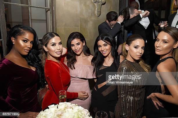 Maybelline social influencers Shayla Mitchell Karen Gonzalez Sazan Hendrix Teni Panosian guest and Desi Perkins attend the Entertainment Weekly...