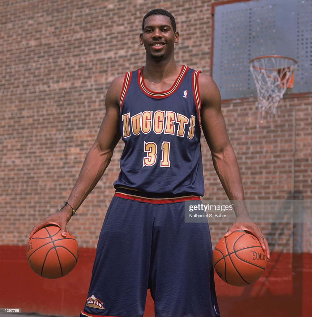 Maybyner 'Nene' Hilario Of The Denver Nuggets Poses For A