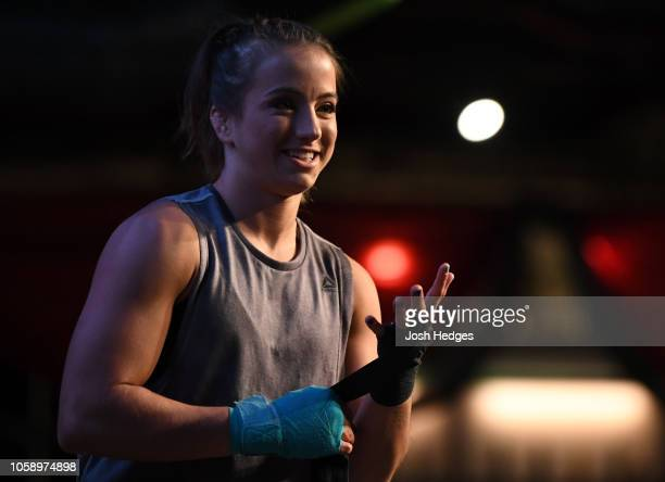 Maycee Barber holds an open workout for fans and media on November 7 2018 in Denver Colorado