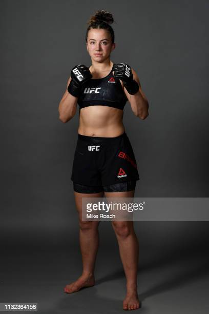 Maycee Barber poses for a portrait backstage during the UFC Fight Night event at Bridgestone Arena on March 23 2019 in Nashville Tennessee