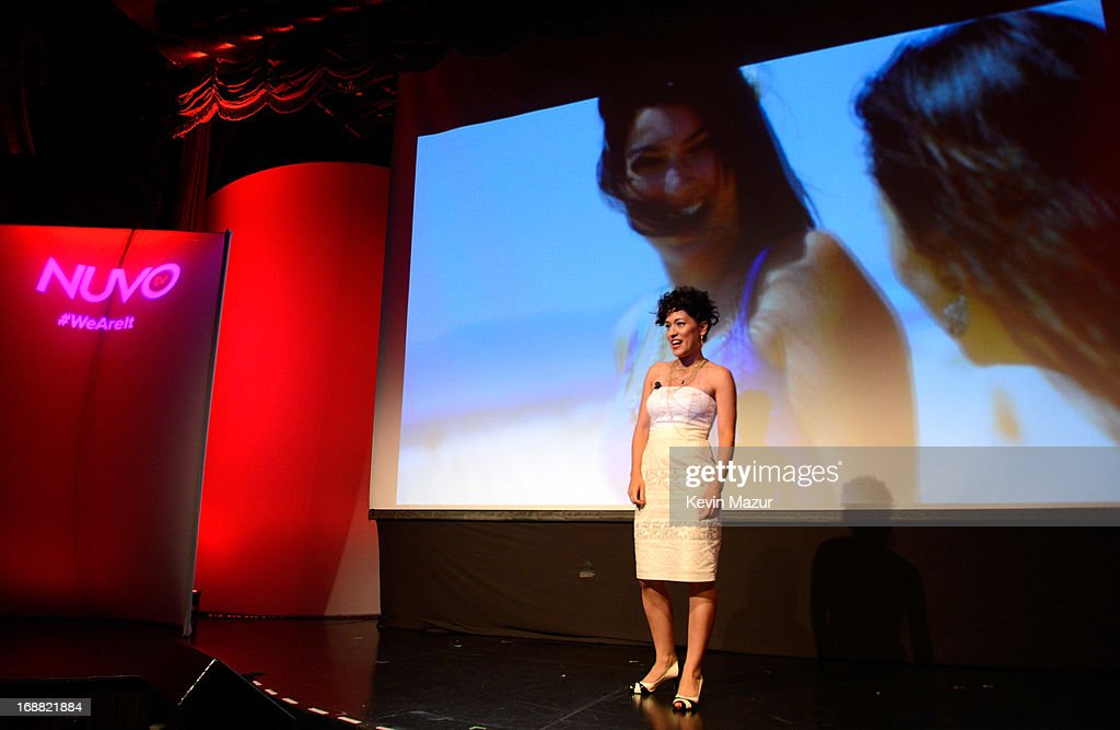 Mayda del Valle speaks on stage during the NUVOtv Upfront presentation at The Edison Ballroom on May 15, 2013 in New York City.