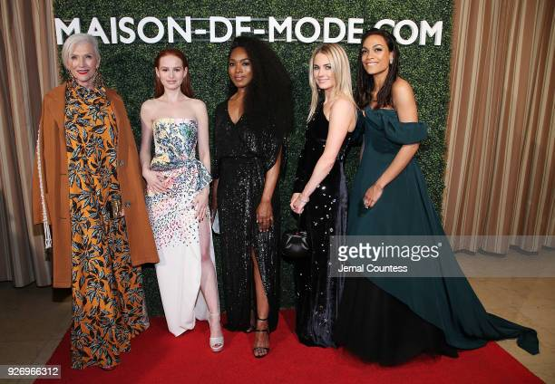 Maye Musk actress Madelaine Petsch actress Angela Bassett CoFounder of MDM Amanda Hearst and actress Rosario Dawson attend the MAISONDEMODE...