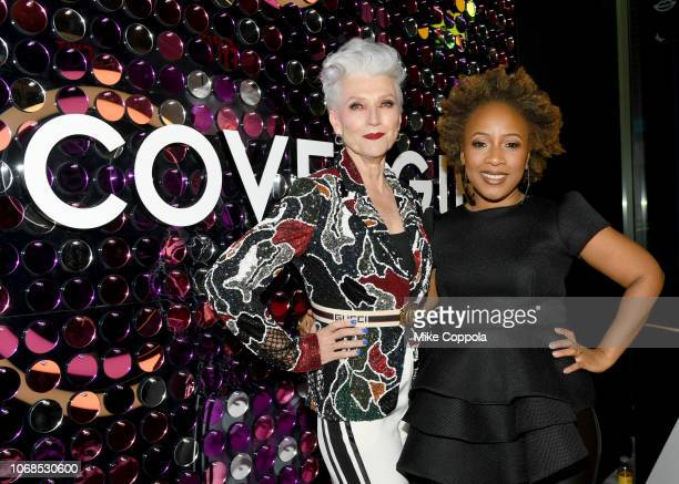 Maye Musk and Ukonwa Ojo attend as COVERGIRL Opens The Doors To Their First Flagship Store An Experiential Makeup Playground on December 4 2018 in...