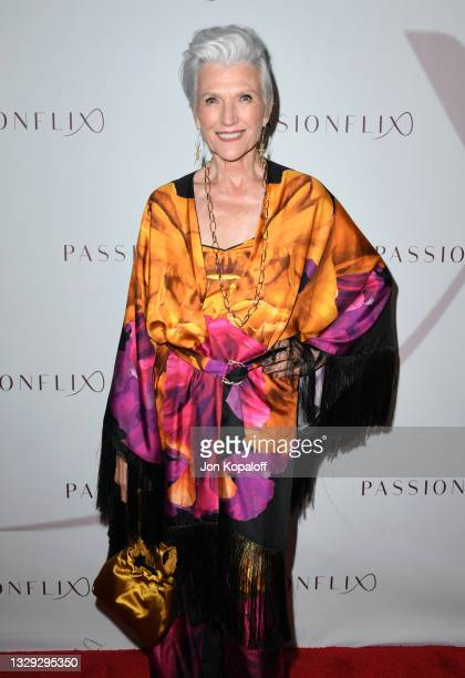 "Maye Musk arrives at Passionflix's Series ""Driven"" Season 2 Premiere at AMC Santa Monica 7 on July 17, 2021 in Santa Monica, California."