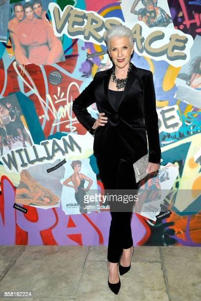 Maye Musk at Farfetch and William Vintage Celebrate Gianni Versace Archive hosted by Elizabeth Stewart and William BanksBlaney on October 5 2017 in...