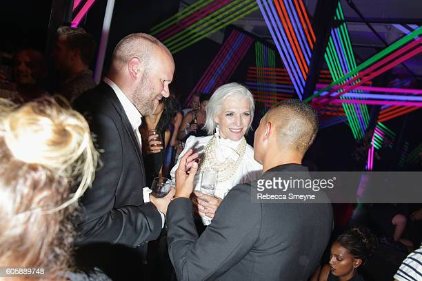 Maye Musk at the Jimmy Choo 20th anniversary party at the Jimmy Choo store on Little W 12th in New York NY on September 8 2016