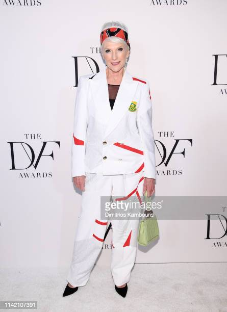 Maye Musk attends 10th Annual DVF Awards at Brooklyn Museum on April 11 2019 in New York City