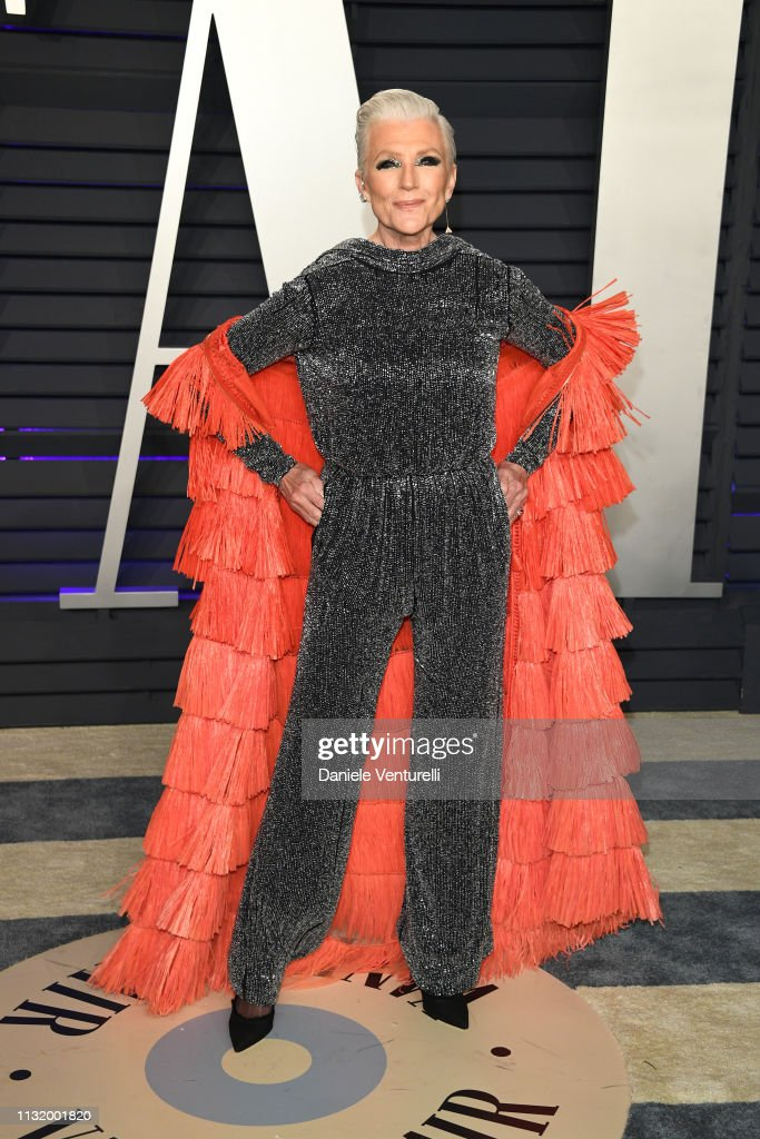 Maye Musk attends 2019 Vanity Fair Oscar Party Hosted By Radhika