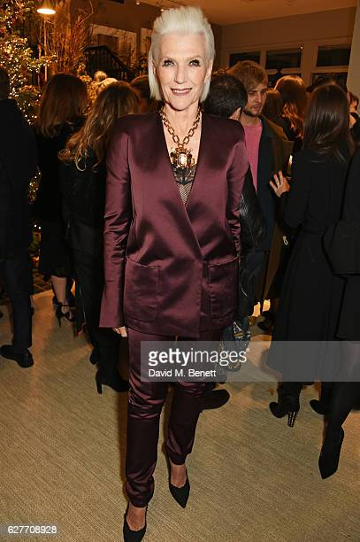 Maye Musk attends a cocktail party to honour the 2016 Fashion Awards hosted by Natalie Massenet Lauren Santo Domingo and Derek Blasberg at Moda...