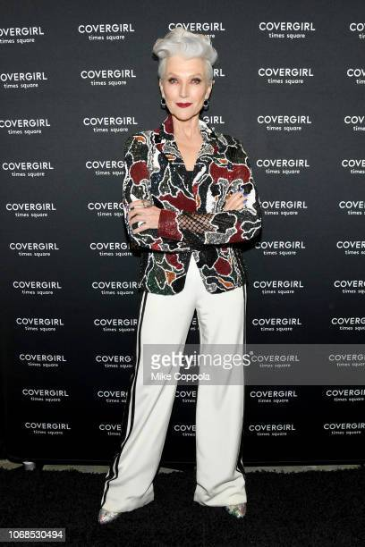 Maye Musk attends as COVERGIRL Opens The Doors To Their First Flagship Store An Experiential Makeup Playground on December 4 2018 in New York City