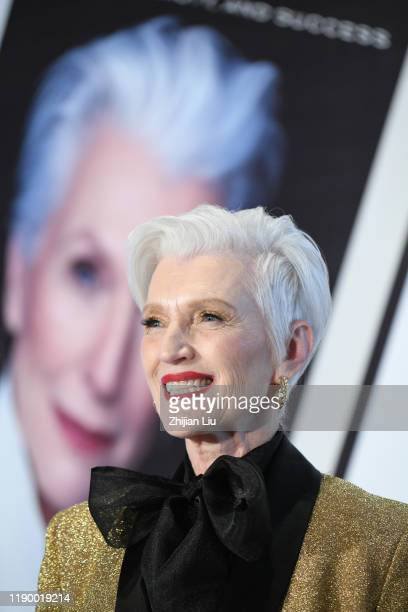 Maye Musk attends her new book A Woman Makes A Plan for her first book launch salon and sharing session to talk about the value of life with Chinese...
