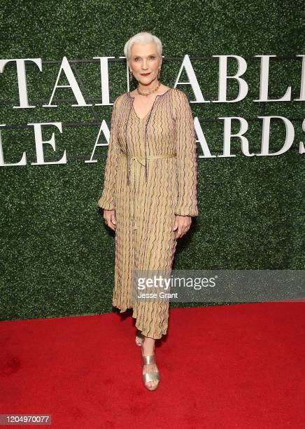Maye Musk attends Maison de Mode's Sustainable Style Awards presented by Aveda at 1 Hotel West Hollywood on February 08, 2020 in West Hollywood,...