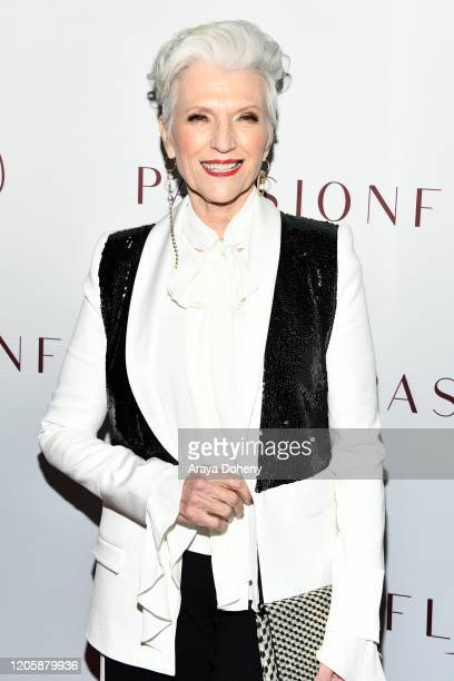 Maye Musk attends Passionflix's The Will Los Angeles Premiere on February 12 2020 in Culver City California