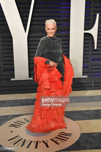 Maye Musk attends the 2019 Vanity Fair Oscar Party hosted by Radhika Jones at Wallis Annenberg Center for the Performing Arts on February 24 2019 in...