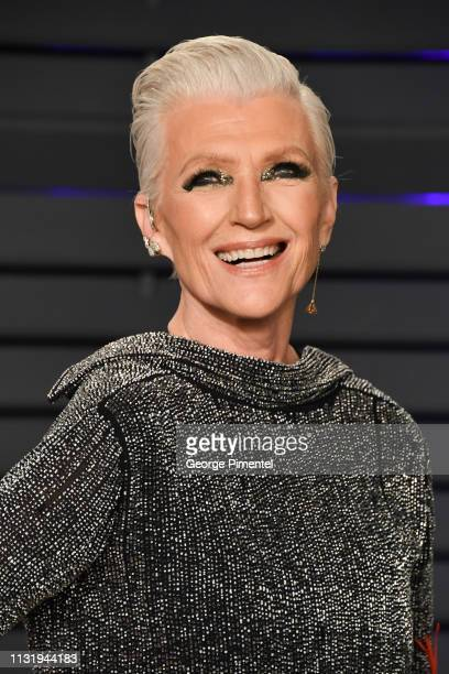 Maye Musk attends the 2019 Vanity Fair Oscar Party hosted by Radhika Jones at Wallis Annenberg Center for the Performing Arts on February 24, 2019 in...