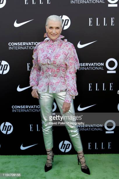 Maye Musk attends the Conservation International ELLE Los Angeles Gala at Milk Studios on June 08 2019 in Hollywood California