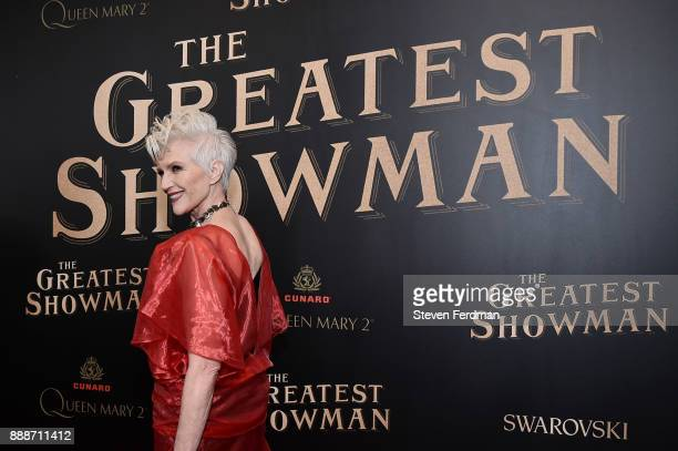 Maye Musk attends 'The Greatest Showman' World Premiere aboard the Queen Mary 2 at the Brooklyn Cruise Terminal on December 8 2017 in the Brooklyn...